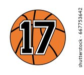 ball of basketball with the... | Shutterstock .eps vector #667753642