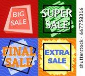 set of four sale vector bannes  ...   Shutterstock .eps vector #667758316