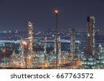 oil refinery industry | Shutterstock . vector #667763572