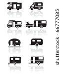 caravan or camper van symbol...   Shutterstock .eps vector #66777085