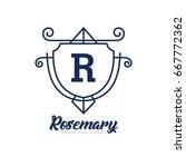 monogram logo template with...   Shutterstock .eps vector #667772362