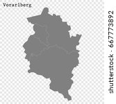 high quality map of vorarlberg... | Shutterstock .eps vector #667773892