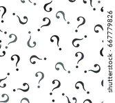 question mark seamless pattern .... | Shutterstock .eps vector #667779826