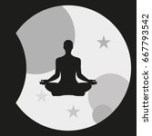 meditation icon. | Shutterstock .eps vector #667793542