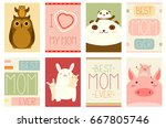 best mom ever. collection of... | Shutterstock .eps vector #667805746