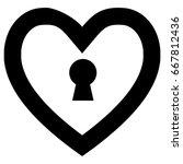 lock heart symbol | Shutterstock .eps vector #667812436