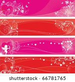 st.valentine's day banners set | Shutterstock .eps vector #66781765