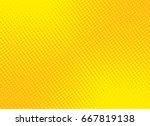retro comic yellow background... | Shutterstock .eps vector #667819138