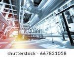 industrial zone  steel... | Shutterstock . vector #667821058