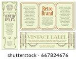 vector flowers vintage labels...   Shutterstock .eps vector #667824676