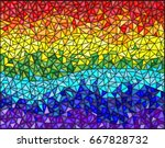 abstract stained glass... | Shutterstock .eps vector #667828732
