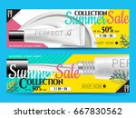 long banner designs with... | Shutterstock .eps vector #667830562