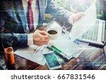 business concept. businessman... | Shutterstock . vector #667831546