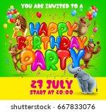 invitation party happy birthday | Shutterstock .eps vector #667833076