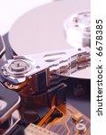 macro shot of hard disk | Shutterstock . vector #6678385