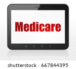 healthcare concept  tablet pc... | Shutterstock . vector #667844395