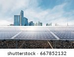 Solar Power Station With Moder...