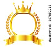crown medal frame icon | Shutterstock .eps vector #667852216