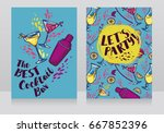 banners for cocktails bar   can ... | Shutterstock .eps vector #667852396