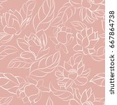 abstract floral pattern.... | Shutterstock .eps vector #667864738