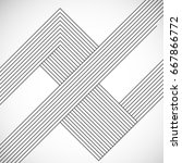 abstract hipster lines... | Shutterstock .eps vector #667866772