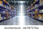 empty hangar delivery warehouse ... | Shutterstock . vector #667872766