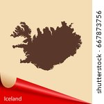 map of iceland | Shutterstock .eps vector #667873756