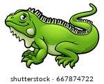 An Illustration Of An Iguana...