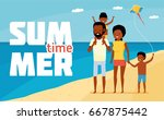 family leisure. summer time.... | Shutterstock .eps vector #667875442