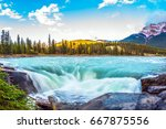 travel to jasper park  canada.... | Shutterstock . vector #667875556