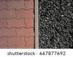 read cement on the left side... | Shutterstock . vector #667877692