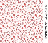 background for valentines day  ...   Shutterstock .eps vector #667878442