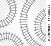 rail railroad track vector... | Shutterstock .eps vector #667880116