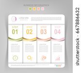 infographic template of four... | Shutterstock .eps vector #667886632