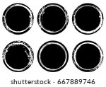 black and white grunge stamp... | Shutterstock .eps vector #667889746