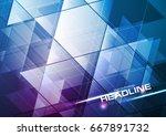 blue and purple tech modern... | Shutterstock .eps vector #667891732