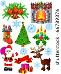 illustration kit new year's fir ... | Shutterstock . vector #66789376