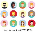 people icons set | Shutterstock .eps vector #667894726