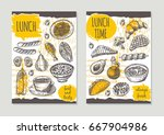 lunch time brochure flyer... | Shutterstock .eps vector #667904986