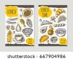 lunch time brochure flyer... | Shutterstock .eps vector #667904986