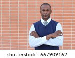 distinguished businessman... | Shutterstock . vector #667909162