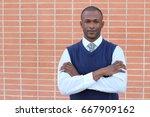 distinguished businessman... | Shutterstock . vector #667909162