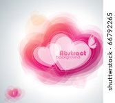 abstract hearts. vector... | Shutterstock .eps vector #66792265