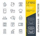 lineo editable stroke   kitchen ...   Shutterstock .eps vector #667923058