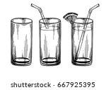 fresh juice  water  drink.... | Shutterstock .eps vector #667925395