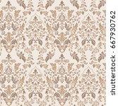 ornate damask background....   Shutterstock .eps vector #667930762