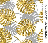 tropical seamless pattern with... | Shutterstock .eps vector #667944772