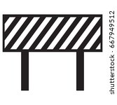 barrier icon | Shutterstock .eps vector #667949512