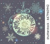 vintage christmas postcards...   Shutterstock .eps vector #667960942