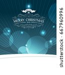 magic christmas background with ...   Shutterstock .eps vector #667960996